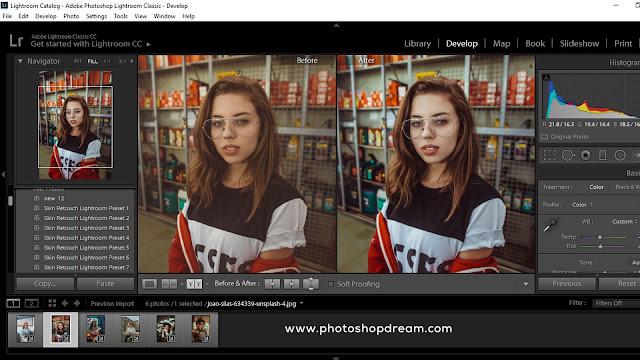 Get Free 50+ Skin Retouch Lightroom Presets - photoshop dream