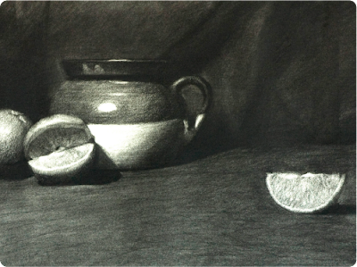 A drawing that has both the local value and light patterns set up.