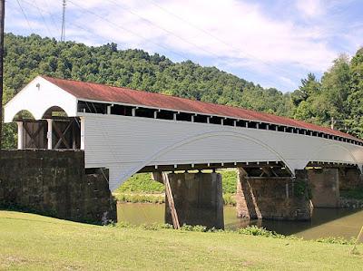 Philippi Covered Bridge in Barbour County, West Virginia