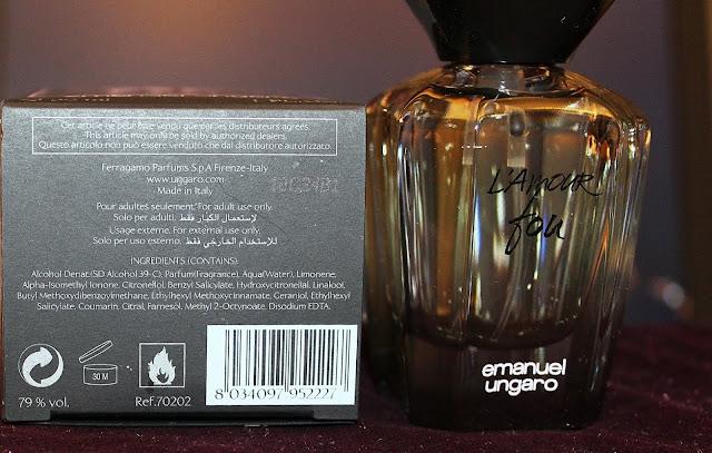 Apa de parfum L'amour fou, de la Emanuel Ungaro. Review.