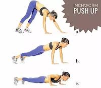 Inchworm push-up