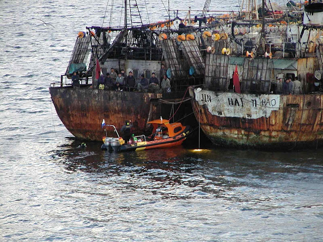 Pesqueiros chineses podem ancorar nas Malvina