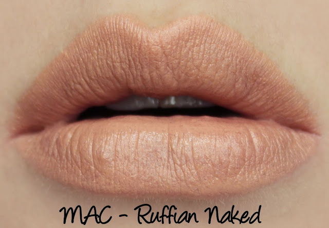 MAC Ruffian Naked Lipstick Swatches & Review