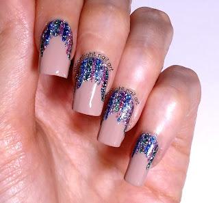 Easy Holo Glitter Stripe Nail Art Design Tutorial