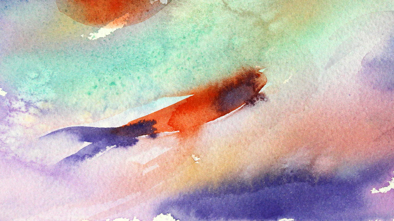 Fragment Of Painting For Watercolor Class Fish Bubbles Easy Watercolour Paintings By Olga Peregood