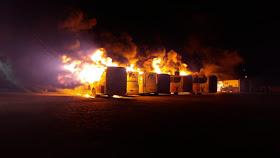 IMG 20191006 WA0006 - Jacobina: Incêndio atinge garagem da Empresa São Luiz e vários ônibus são destruídos