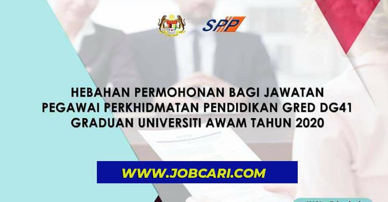 Hebahan Permohonan Jawatan Pegawai Perkhidmatan Pendidikan Gred Dg41 Jobcari Com Jawatan Kosong Terkini