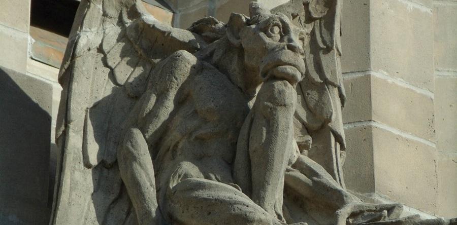 Gárgola en la iglesia Bethesda-by-the-Sea