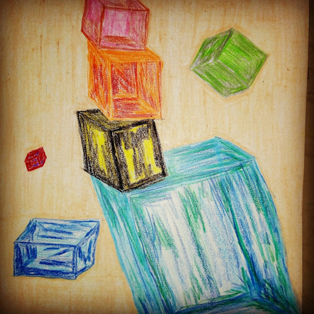 Cubes drawing image