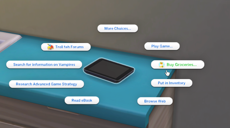 Shop for Groceries - SrslySims