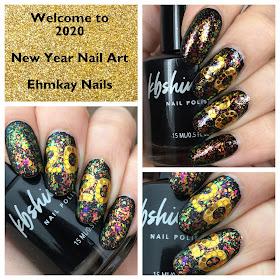 ehmkay nails Welcome to 2020 Nail Art