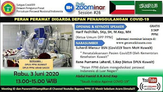 Zoominar Gratis SKP PPNI Nasional (Nursing Daily Zoominar 26) 2 Juni 2020
