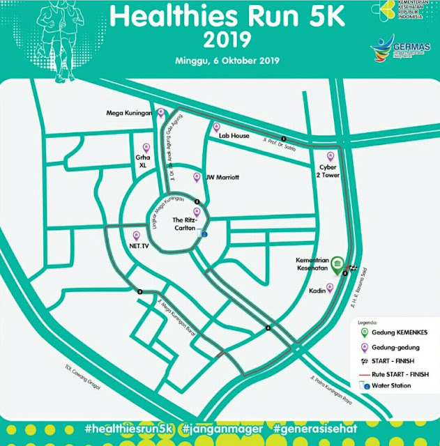 Rute Healthies Run 2019 (dok.windhu)