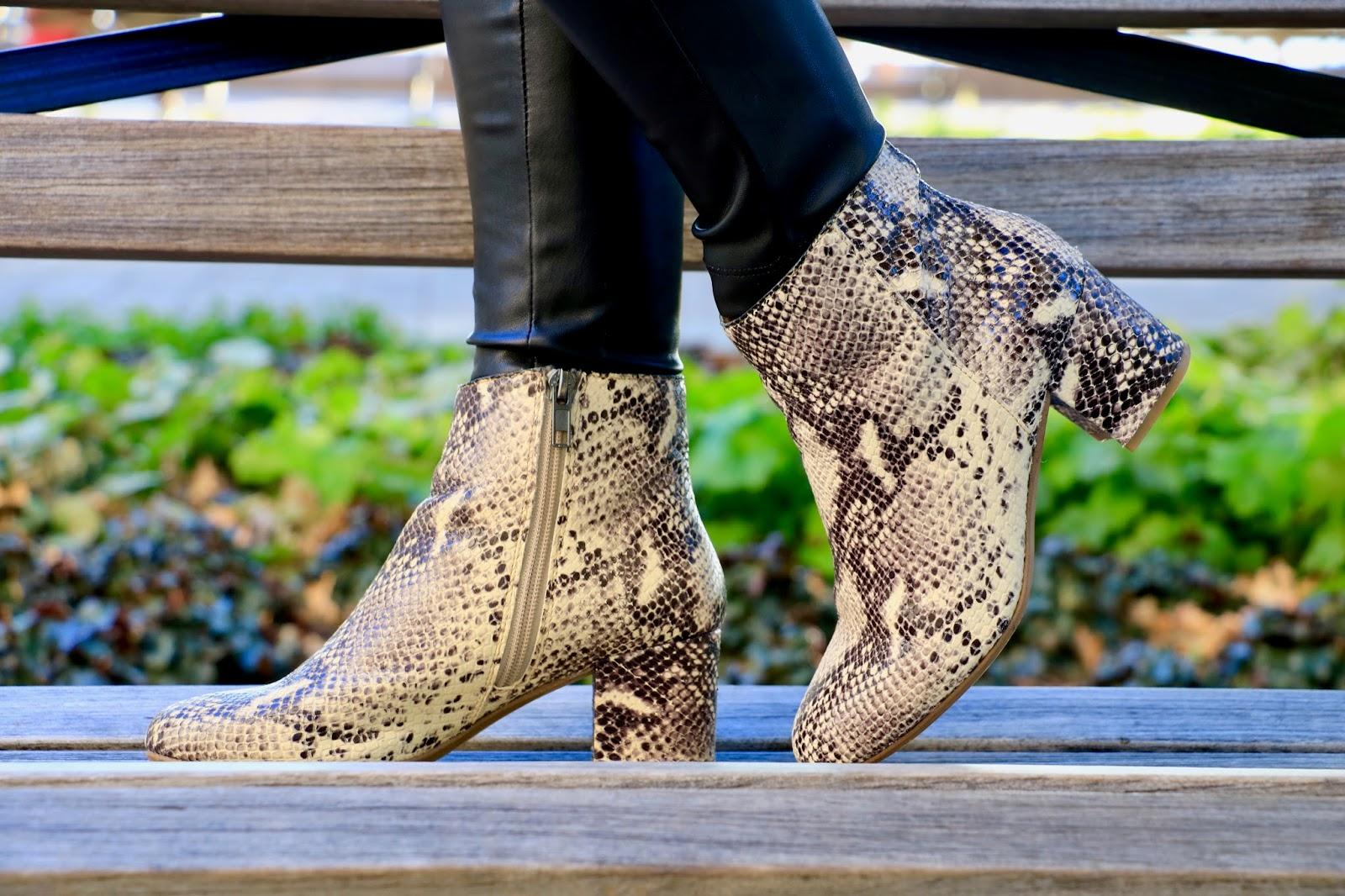 steve madden snakeskin boots