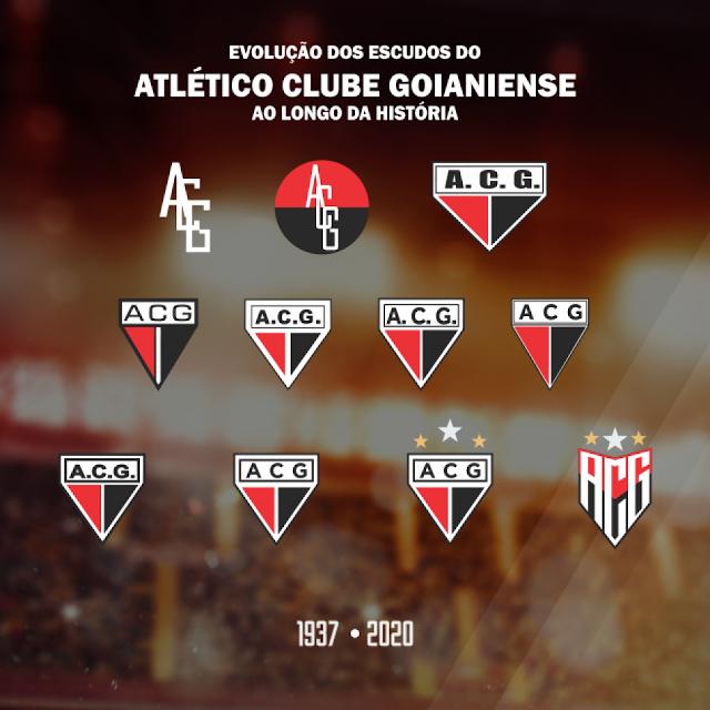 Evolução do escudo do Atlético Goianiense ao logo da história