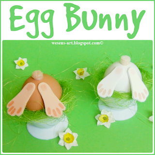 Egg Bunny  wesens-art.blogspot.com
