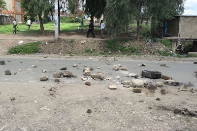 Jacaranda ground sealed off by Police. PHOTO | FILE