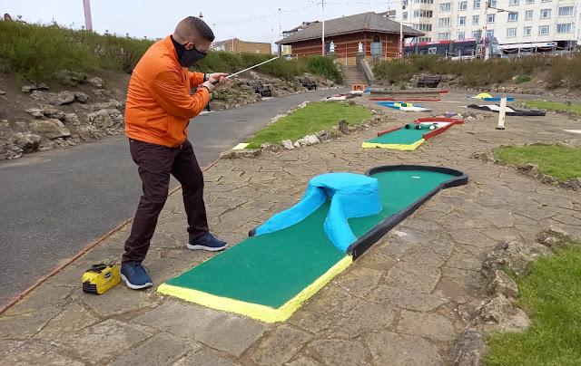 Princess Parade Crazy Golf course in Blackpool