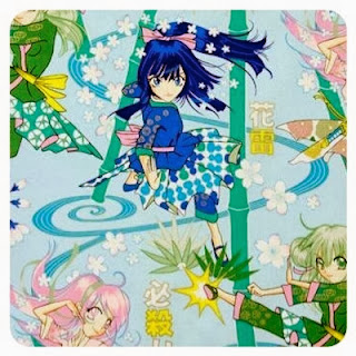 Thunder Flower anime fabric by Alexander Henry