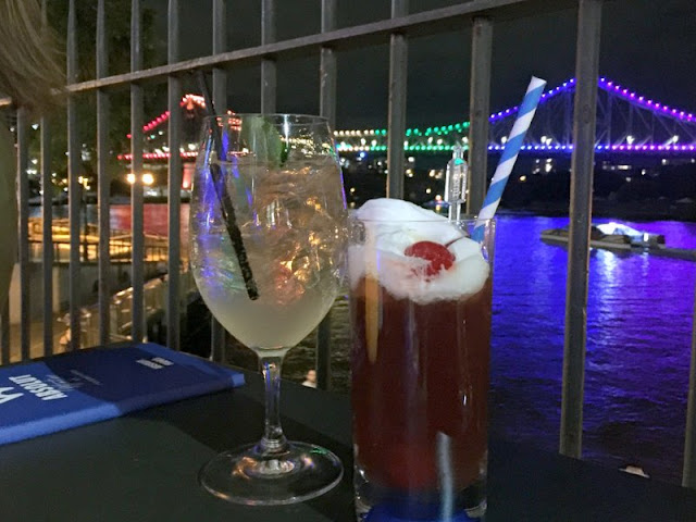 Warming cocktail to get you through a night by the Brisbane River at Customs House