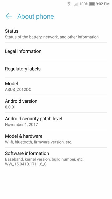 Tampilan Android 8.0 Oreo Zenfone