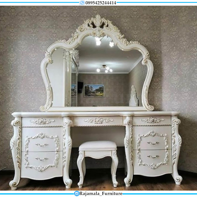 Classic Luxury Meja Rias Mewah Ukir Jepara Terbaru Elegant Set RM-0488
