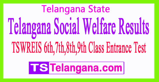 TSWREIS 6th 7th 8th 9th Class Entrance Test 2017 Results