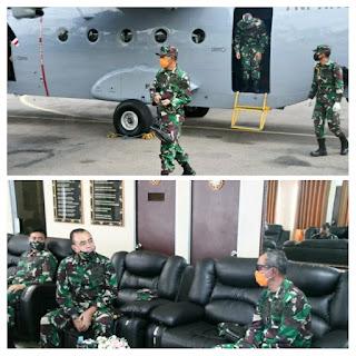Mayjen TNI Richard Tampubolon Bersama Danrem 033/WP Lakukan Patroli Udara Maritim Di ZEE Laut Natuna Utara