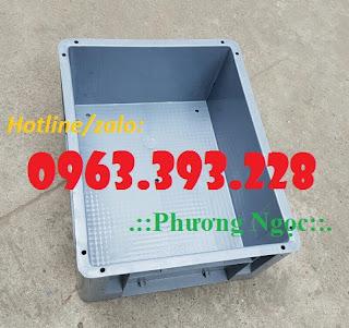 Thùng nhựa đặc có lỗ, thùng nhựa BL001, thùng nhựa linh kiện
