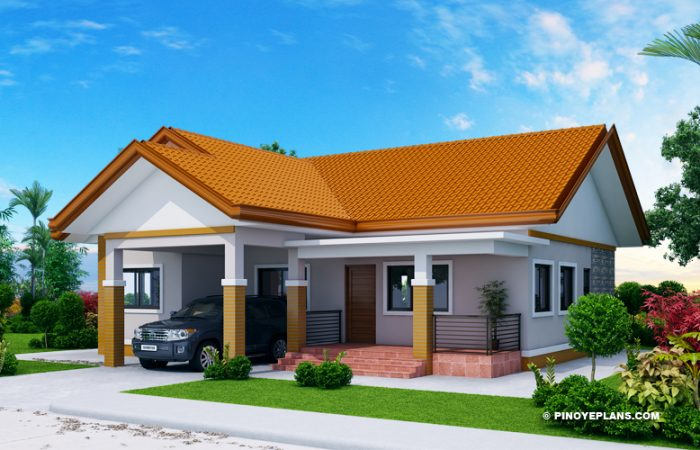 Myhouseplanshop Single Story Three Bedroom House Plan Designed To Be Build In 144 Square Meters