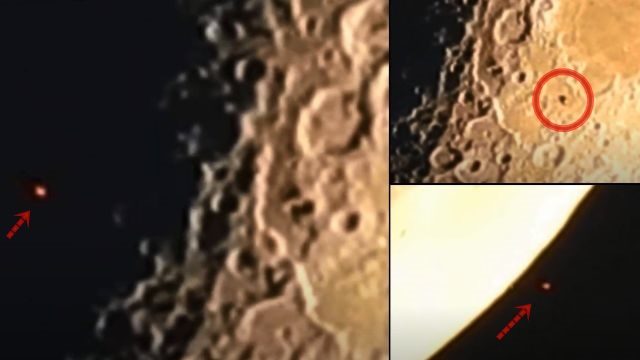 Craft casts its shadow on the lunar surface while crossing the Moon  Ufo-crosses-moon