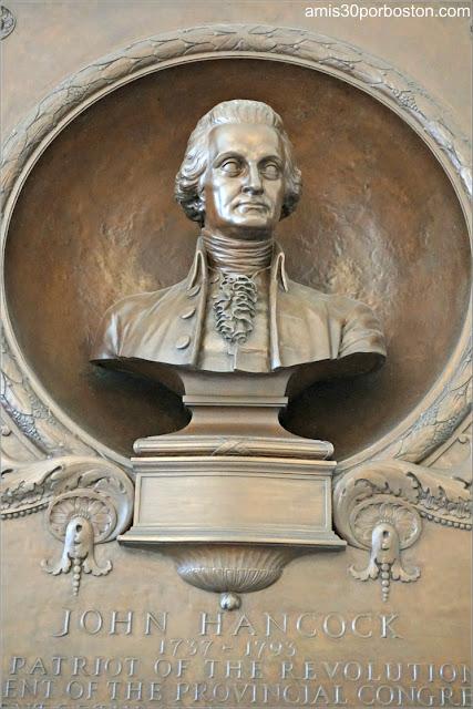 Busto de Bronce de John Hancock en el Doric Hall del Massachusetts State House