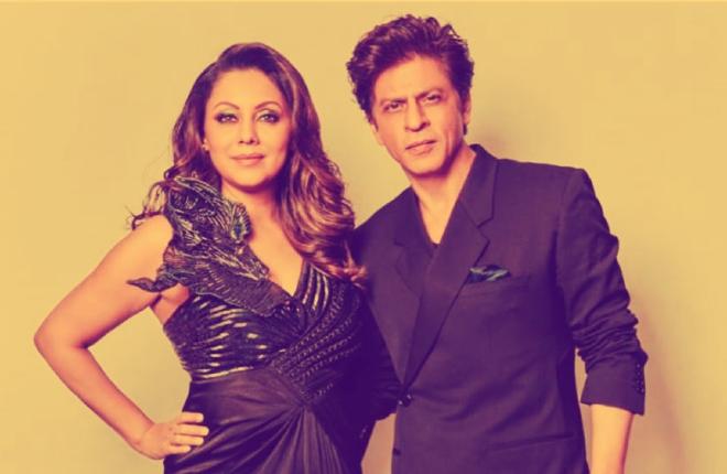 Shahrukh Khan and his wife Gauri khan