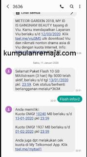 Tutorial lengkap Cara Membeli Paket Internet OMG 10GB harga 5000