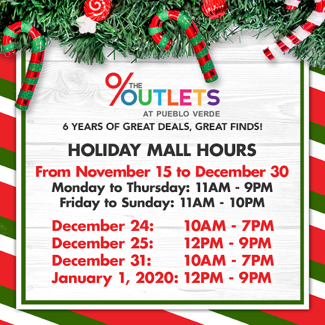 The Outlets at Pueblo Verde Mall Hours 2019