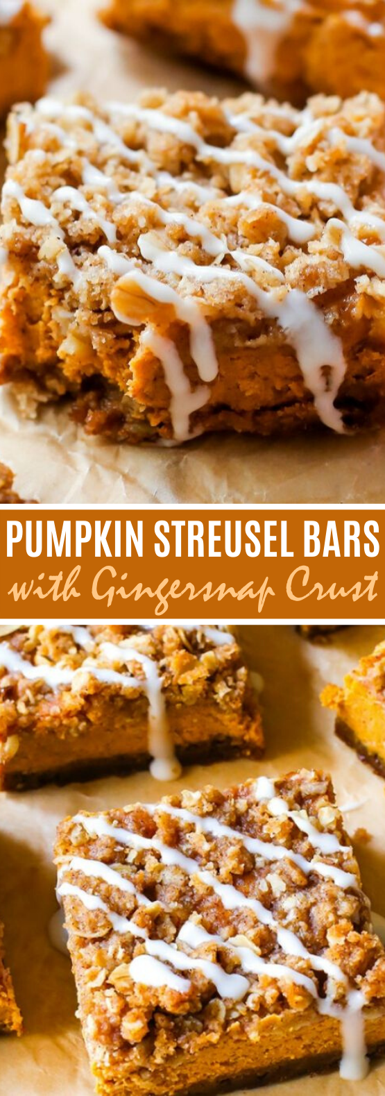 Pumpkin Streusel Bars #desserts #pumpkin #recipes #fall #easy