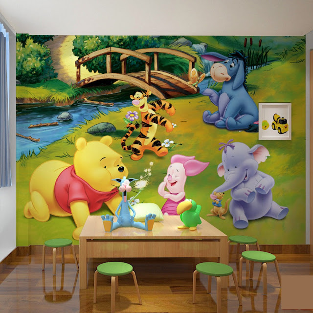 Valokuvatapetti Lapsia Winnie the Pooh