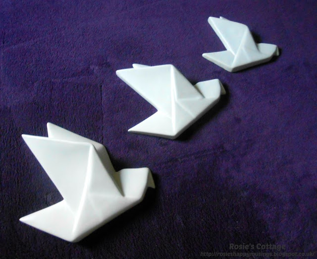 Sharing a midweek smile and some beautiful ceramic origami birds...