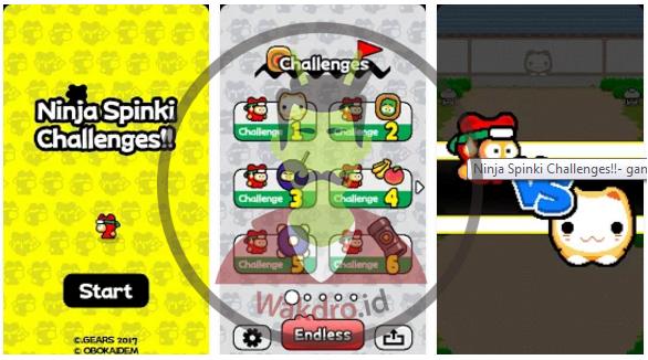 Ninja Spinki Challenges merupakan salah satu game offline android terbaik pada 2017