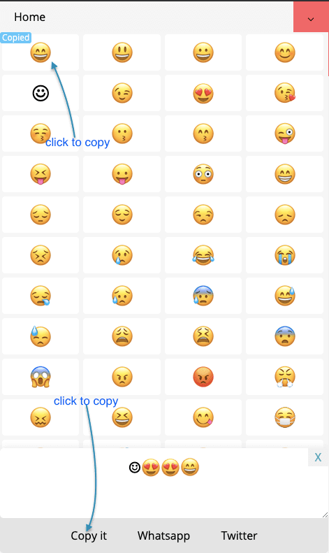 How to copy Smiley Emoji?