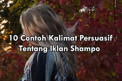 10 Contoh kalimat persuasif iklan shampo