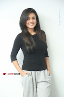Telugu Actress Mishti Chakraborty Latest Pos in Black Top at Smile Pictures Production No 1 Movie Opening  0026.JPG
