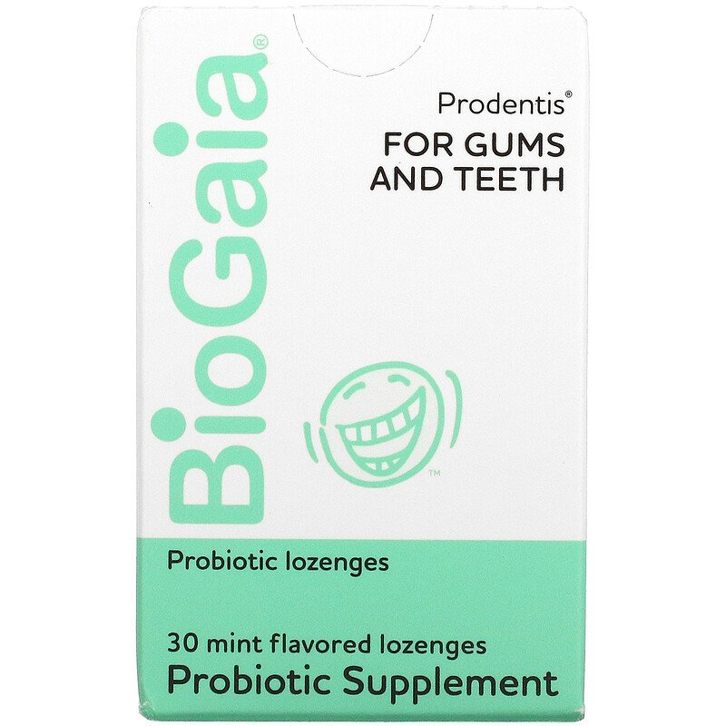 BioGaia, Prodentis For Gums And Teeth, Mint Flavor, 30 Lozenges