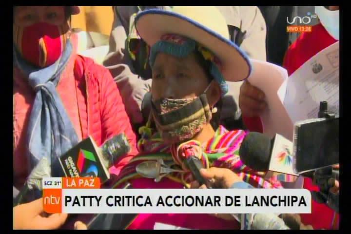 Lidia Patty acusa a Lanchipa de dar la espalda al MAS cuando fue el partido quien lo puso en el cargo