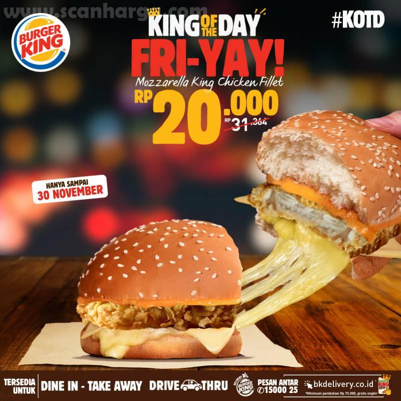 Burger King Promo KOTD: Harga Spesial Hari ini hanya Rp 20.000*6