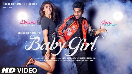 Baby Girl Lyrics Guru Randhawa X Dhvani Bhanushali