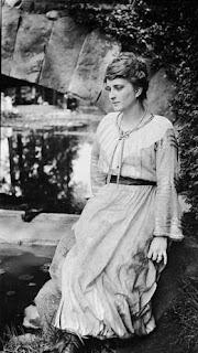 Elsie Stevens by the bridge in Elizabeth Park