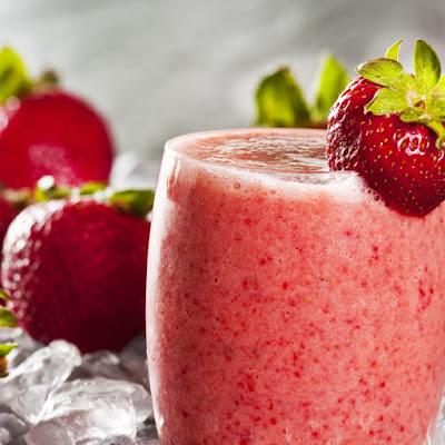 عصير فراولة سموثى