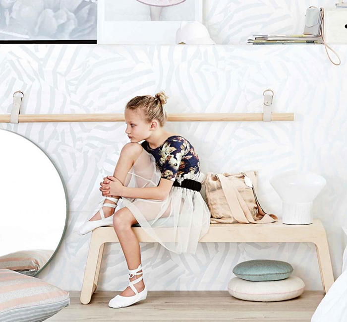 Rafa-kids bench at InsideOut magazine - Australia styling Jessica Hanson photo Sam Mcadam-Cooper