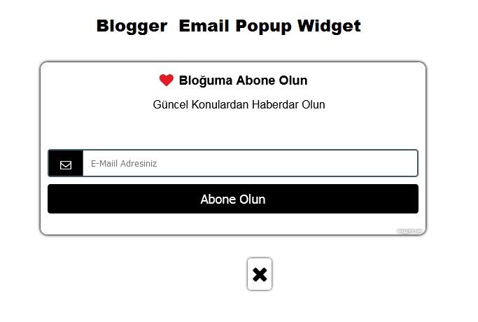 Blogger  Email Popup Widget